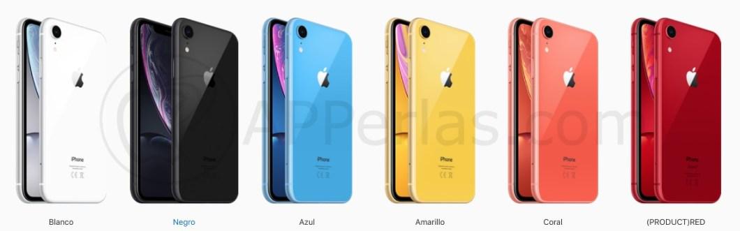 Colores del iPhone Xr