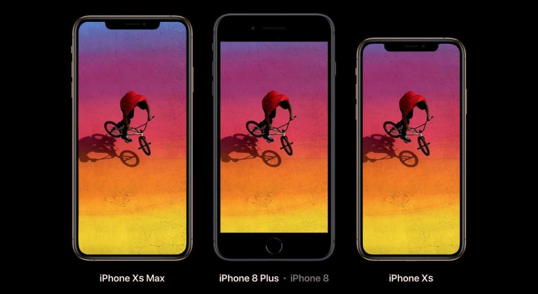 Comparación tamaño iPhone XS MAX