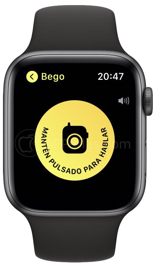 Envía audios desde el Apple Watch