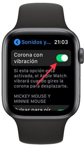 vibración de la corona digital en el Apple Watch 1