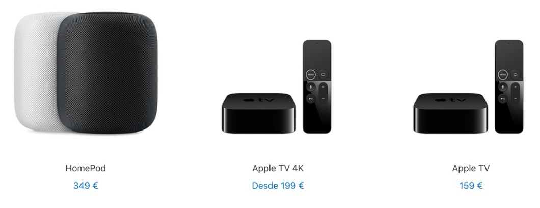 Ofertas en HomePod y Apple TV