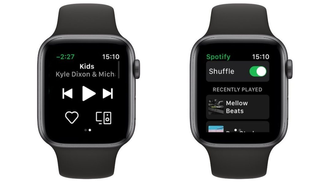 App de Spotify para Apple Watch