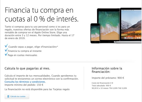 financiación de Apple 1