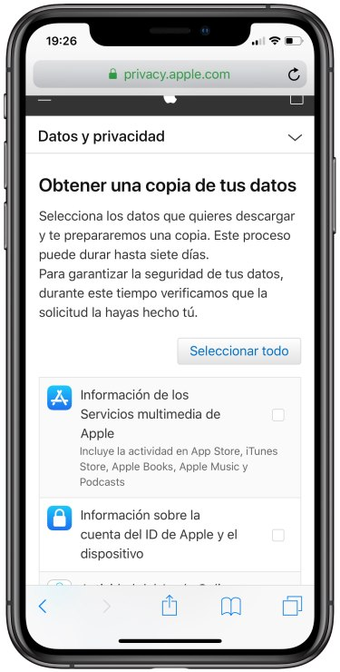 datos de Apple 2