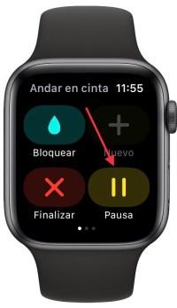 pausar un entreno en el Apple Watch 1