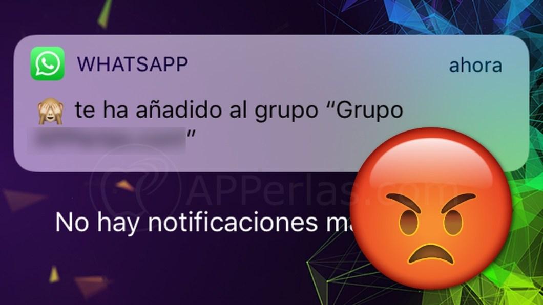 Inclusión a un grupo de WhatsApp sin permiso