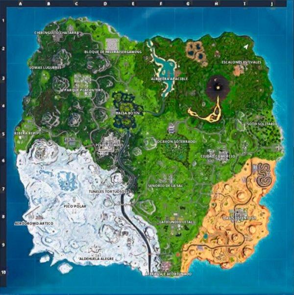 mapa temporada 8 fortnite