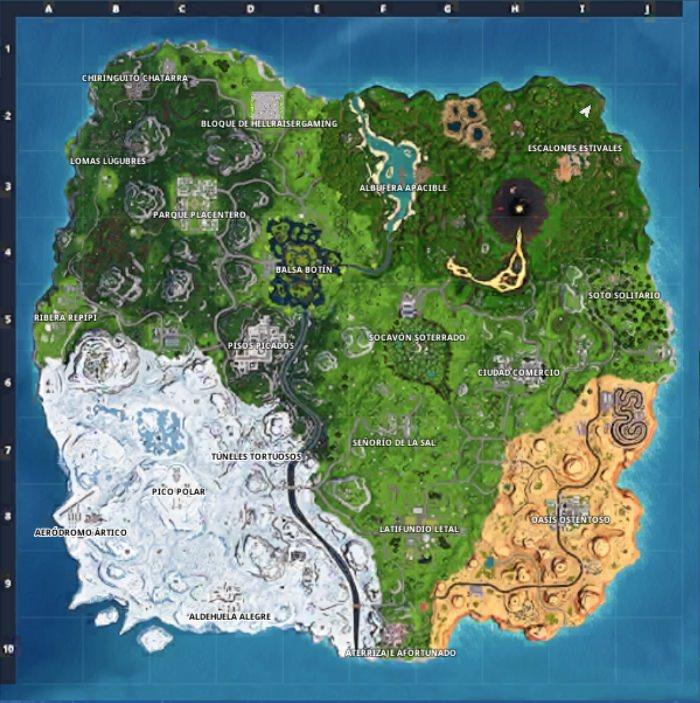 Mapa de la temporada 8 de Fortnite
