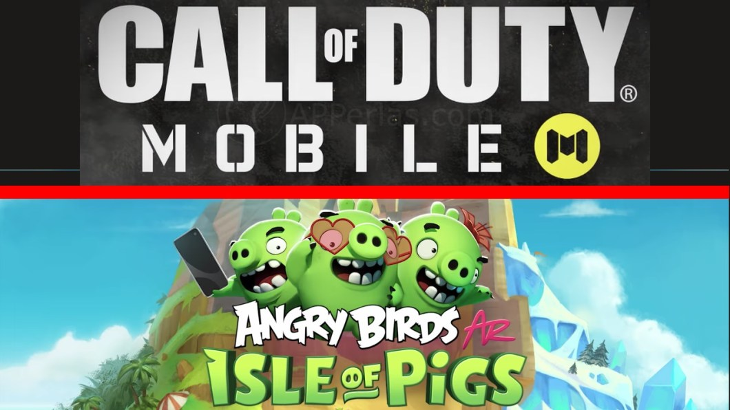 Call of Duty mobile y Angry Birds AR