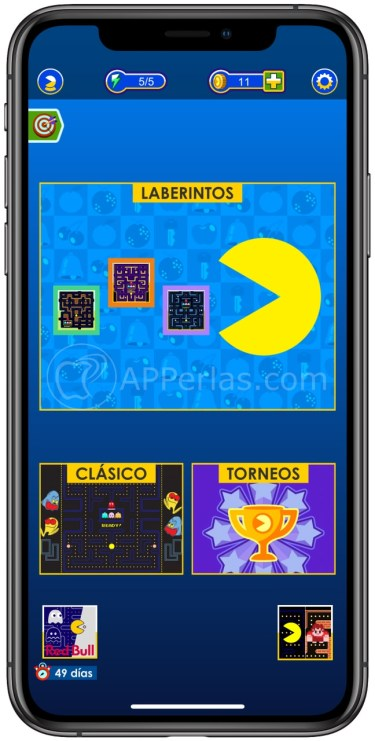 Modalidades de juegos en Pacman para iOS