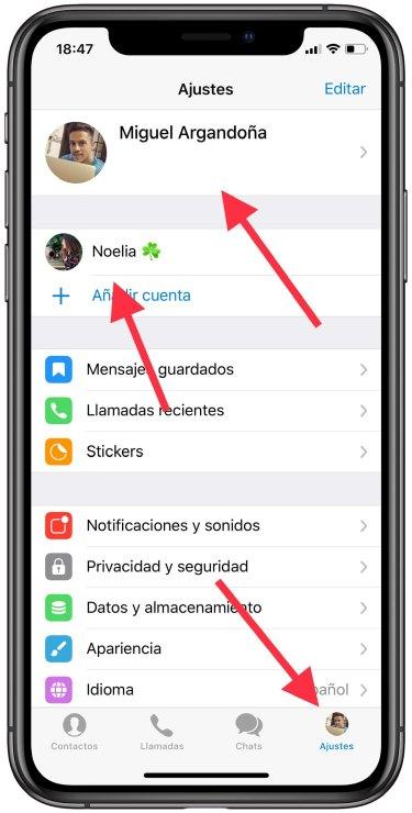 cuenta en Telegram 2