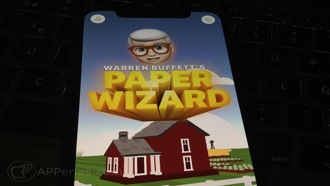 juego de apple Warren Buffett's Paper Wizard 1