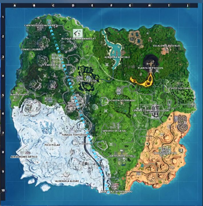 Mapa temporada 9
