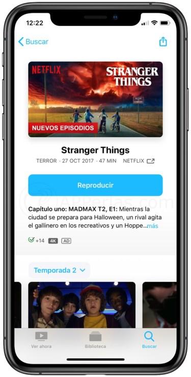 Contenido de Netflix en la App TV
