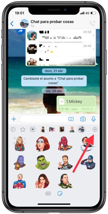 borrar stickers de WhatsApp 1