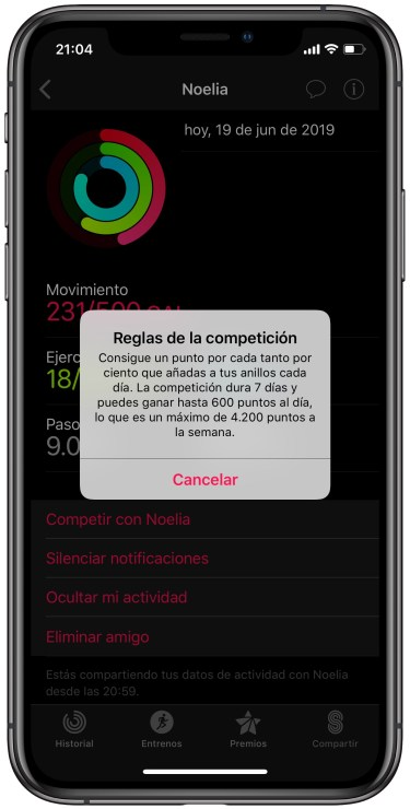 competir con amigos en el Apple Watch 2