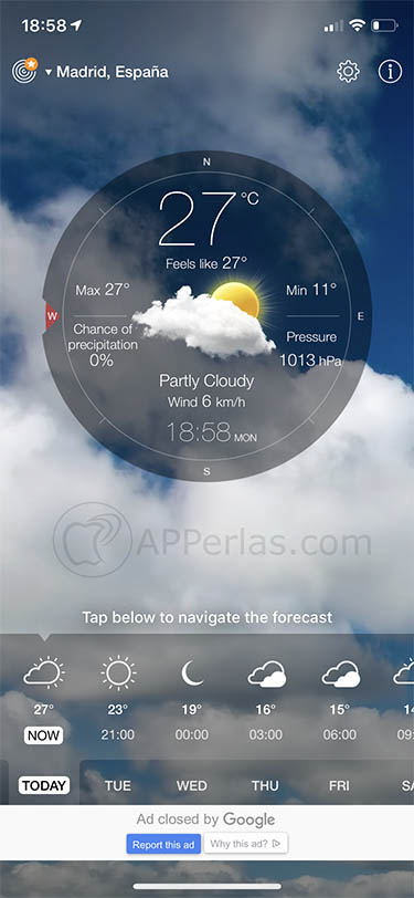 app de meteorología Weather Live 3