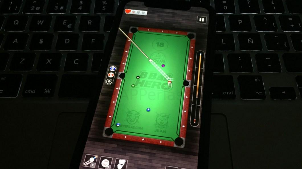 8 Ball Hero, un juego de billar sin internet