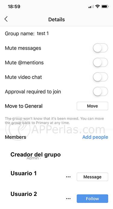 Las funciones de administrador llegan a los grupos de Instagram 1
