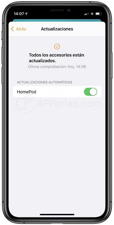 Actualizar el HomePod automáticamente