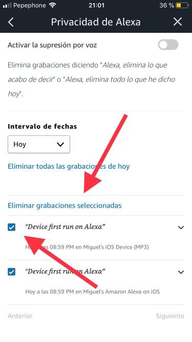 borrar las conversaciones con Alexa 3