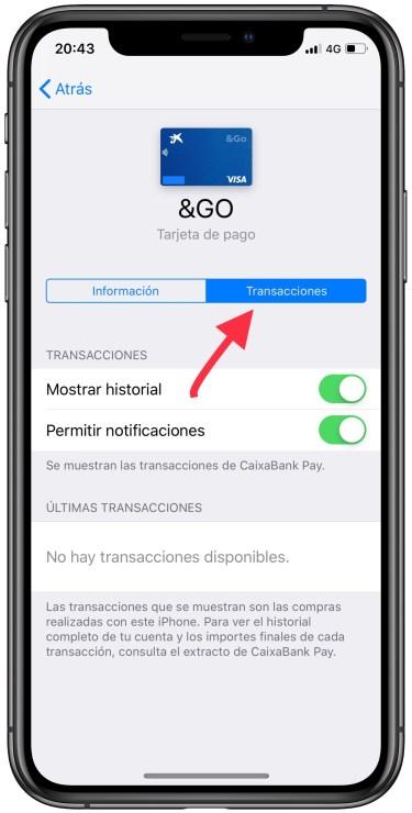 operaciones realizadas con Apple Pay 1