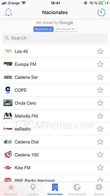 escuchar la radio en iPhone radio fm españa 3