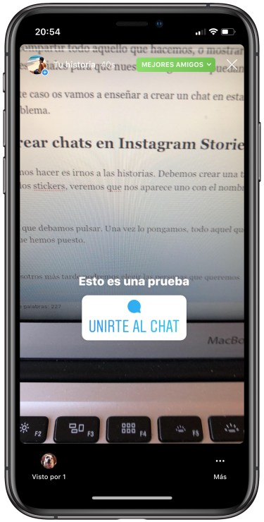 chats en Instagram Stories 2