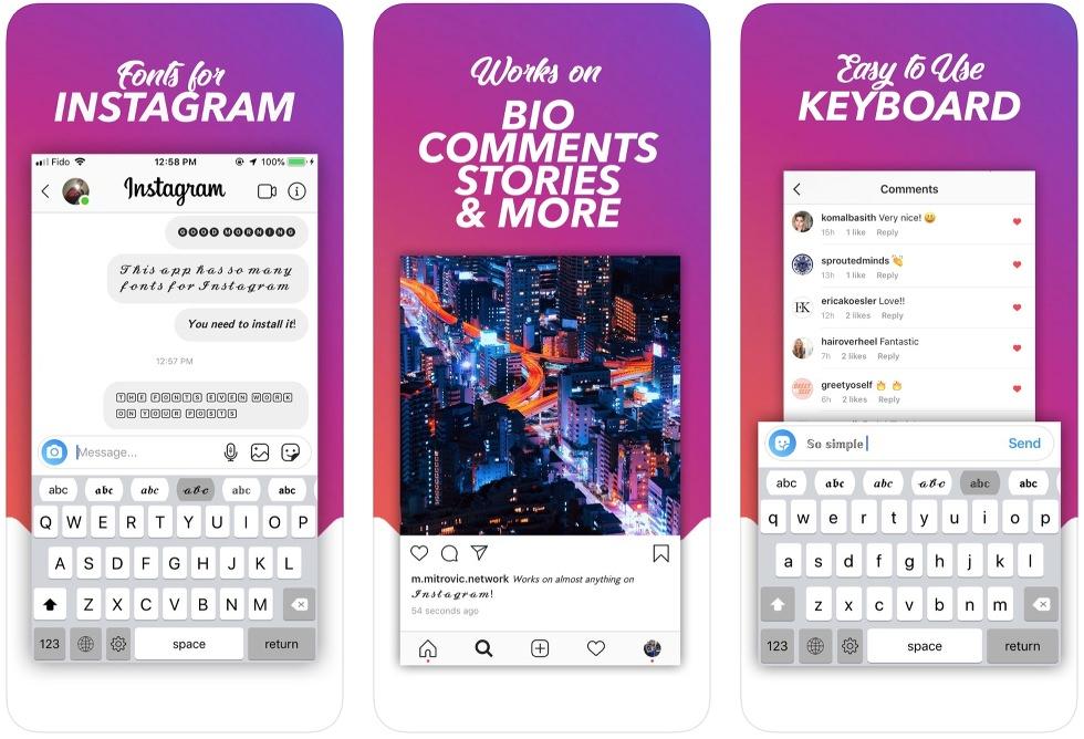 App de tipografías para Instagram