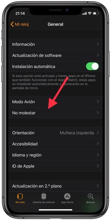 no molestar del Apple Watch 1