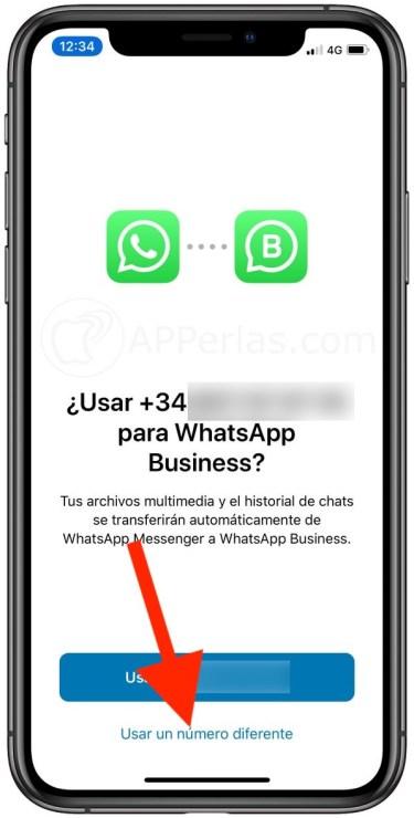 Usar número diferente en Whatsapp