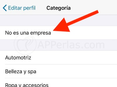 No es empresa Whatsapp
