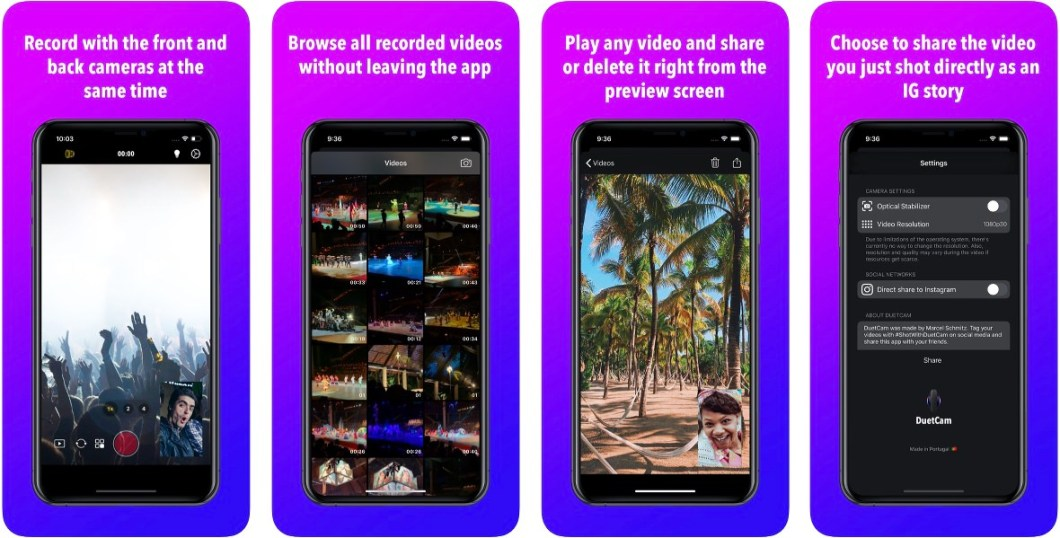 App para grabar con dos cámaras del iPhone al mismo tiempo