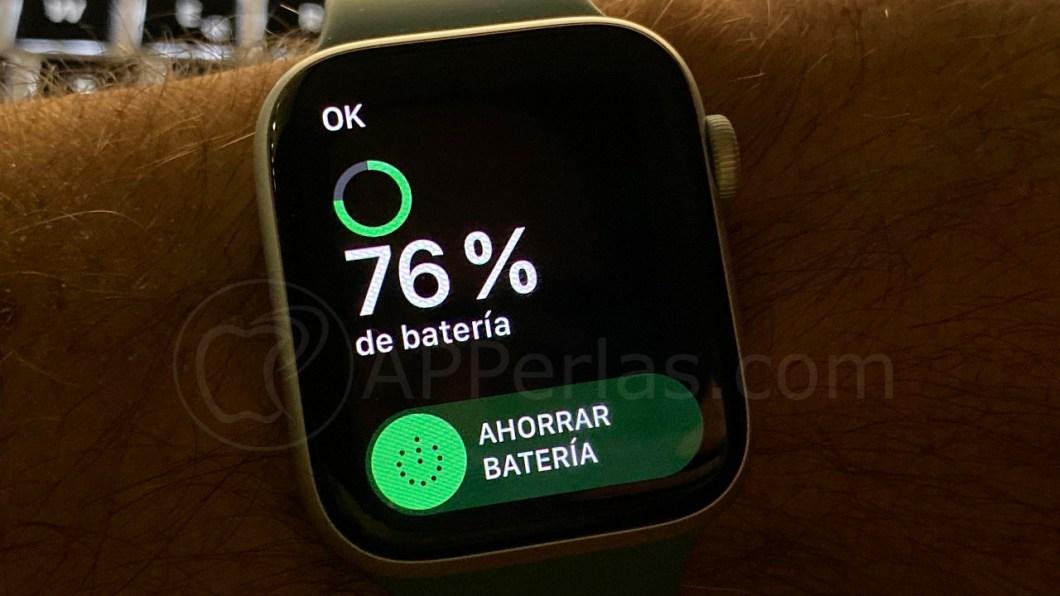 Nivel de batería en el Apple Watch