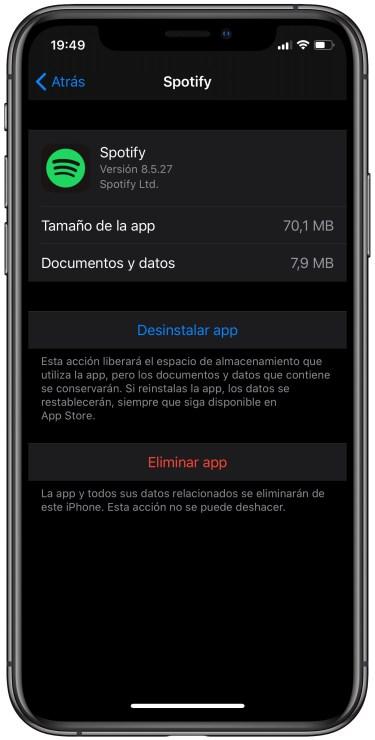 eliminar una app en iOS 3
