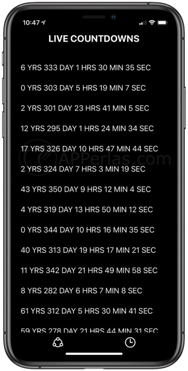 Countdown de otros usuarios
