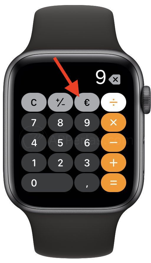 Button to calculate tip.