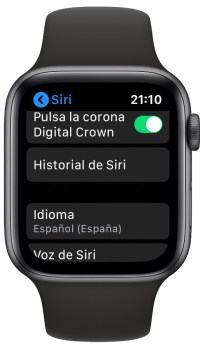 historial de Siri en el Apple Watch 1