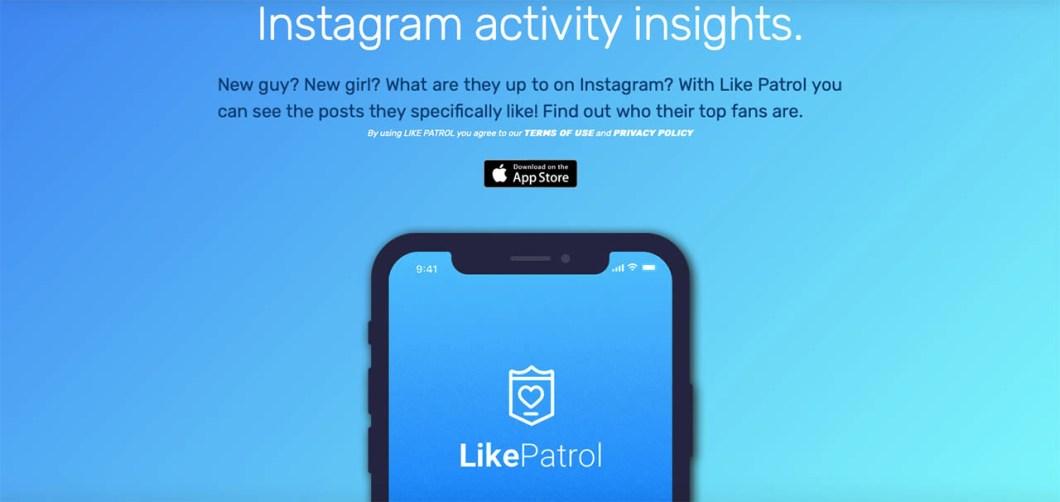 Eliminada del App Store una app que espiaba a usuarios en Instagram like patrol 1