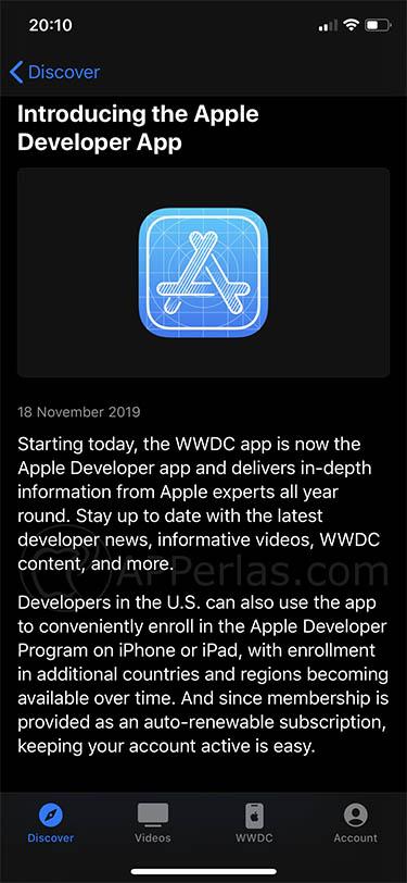 apple developer app wwdc ios iphone ipad apple watch 2