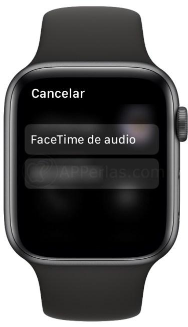 Facetime de audio en el Apple Watch