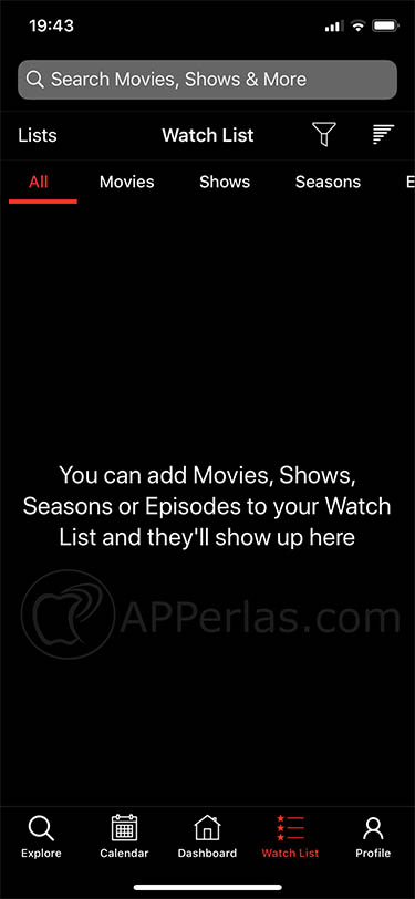 Interesante app para organizar tus series y películas favoritas en iOS watcht iphone ipad 2