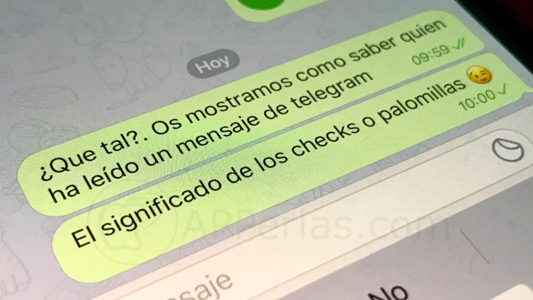 Quien ha leído un mensaje en Telegram