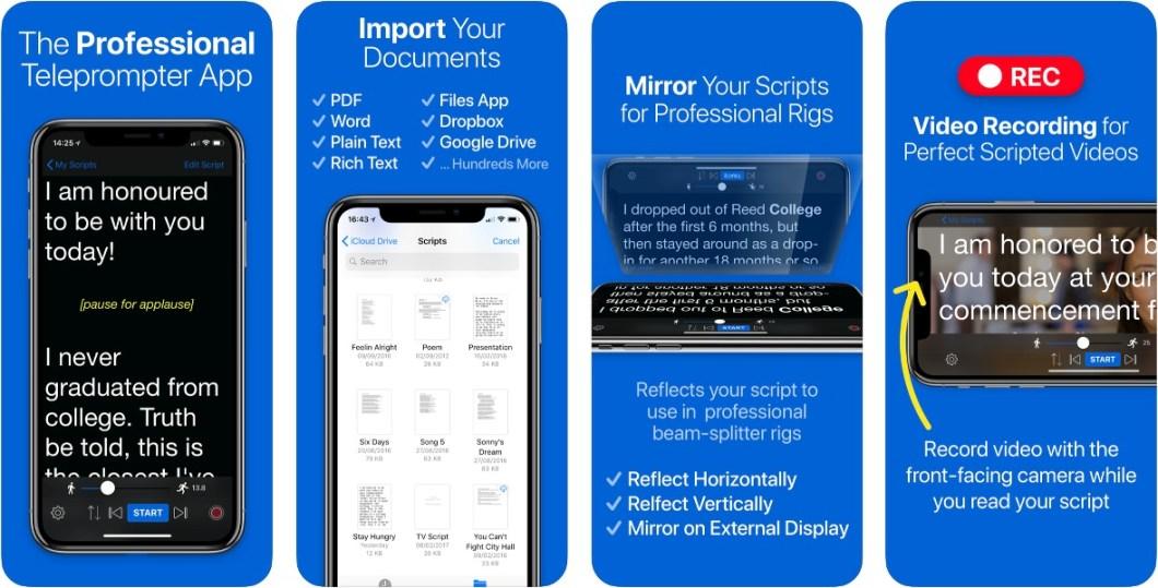 Convierte tu iPhone y iPad en un Teleprompter