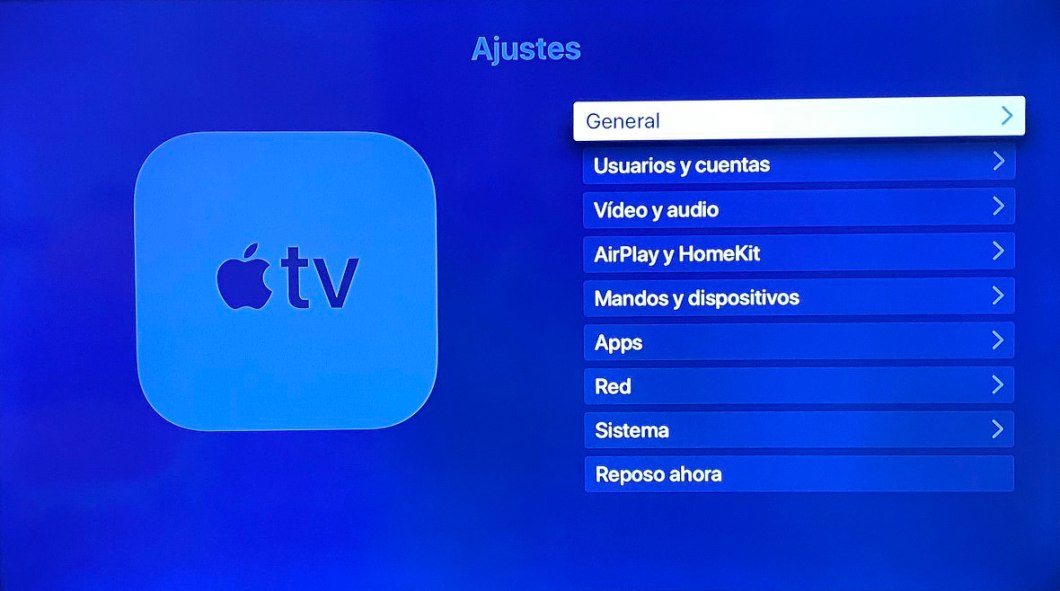 Ajustes de Apple TV