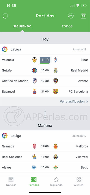 app de fútbol para iOS onefootball 3