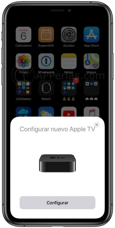 Configura el Apple TV desde el iPhone