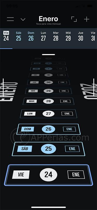 calendario para iOS vantage 2