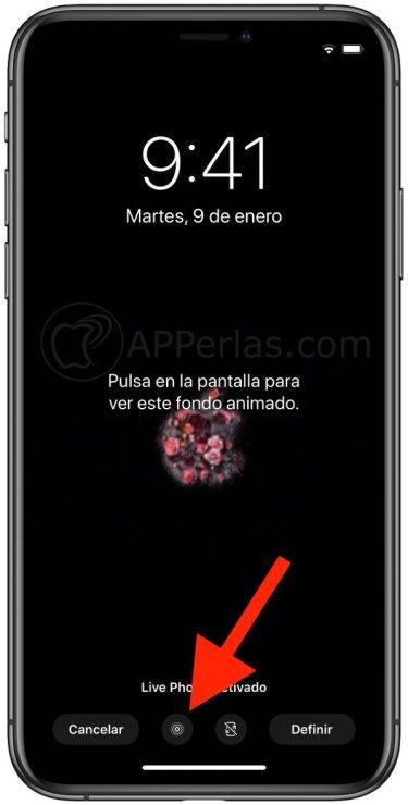 """Activa la opción """"Live Photo"""""""