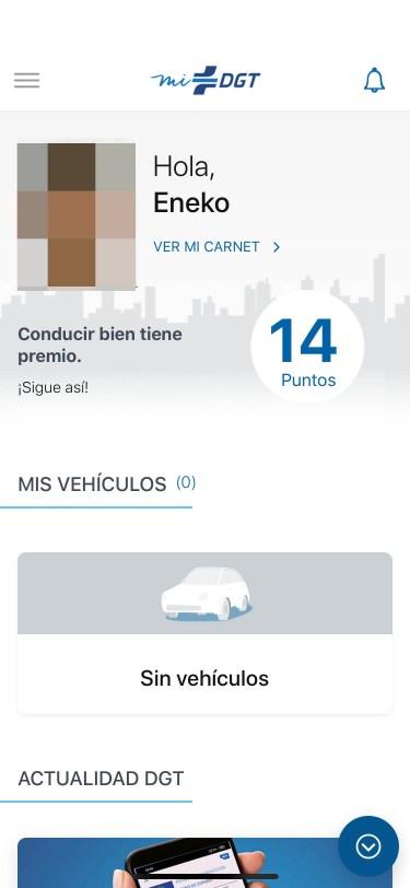 miDGT app carnet conducir iphone 2